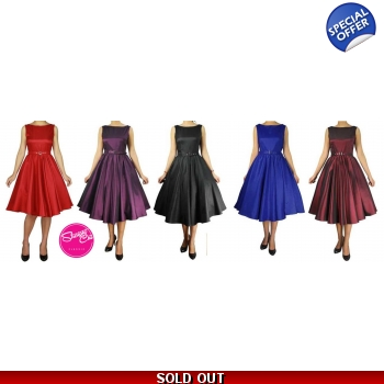 Satin Belted Swing Dress in 5 Colours!